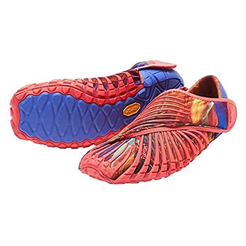 YDXSC Zapatillas De Deporte De Cinco Dedos De Fondo Suave, Envoltura De Vibram, Zapatos De Cinco Dedos Furoshiki, Zapatos De Tela, Zapatos De Hombre/Mujer, Zapatos De Yoga Red-X-Large