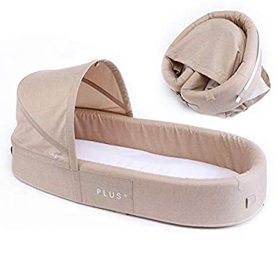 Lulyboo Bassinet Plus+ Infant to Toddler Portable Travel Bed (Oat)