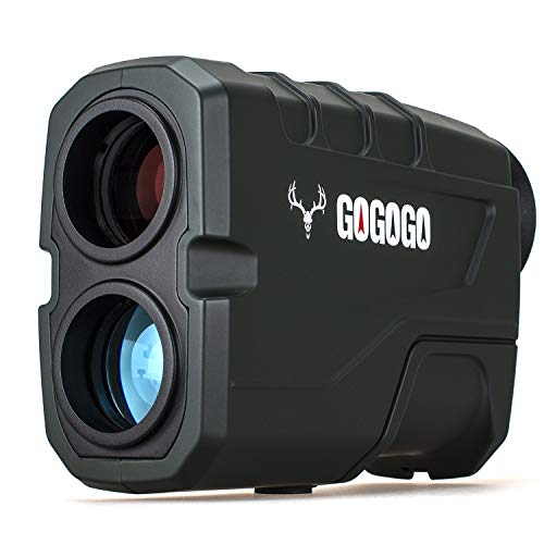 Gogogo Sport 1200 Yards Laser Range Finder, Hunting with Flagpole Lock - Ranging - Speed and Scan 6X Rangefinders with USB Cable