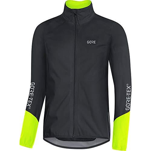 GORE WEAR C5 Chaqueta de ciclismo de hombre GORE-TEX, S, negro/amarillo neón