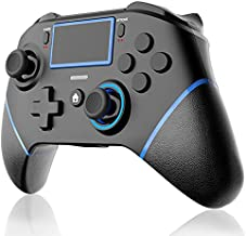 Wireless Controller for PS4 EZdenK Game Controllers with Back Button/Turbo/Dual Vibration/6-axis Motion Control/Stereo Headset Jack/Touch Pad Compatible Playstation 4/ Slim/Pro/Great Gamepad Gift