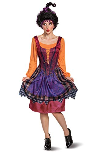 Disguise Women's Disney Hocus Pocus Mary Classic Adult Costume, Red & Orange, Large (12-14)