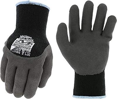 Mechanix Wear: SpeedKnit Thermal Work Gloves - Heavyweight 10-guage Thermal Shell with Fleece Inner Lining, Sandy Foam Latex Grip (Small/Medium, Black)