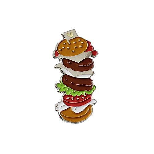 I Love Gekookt Tarwe Voedsel Emaille Broche Warme Broodjes Noedel Dumplings Hamburger Revers Pin Traditionele Chinese Voedsel Badge Om Foodie-stijl