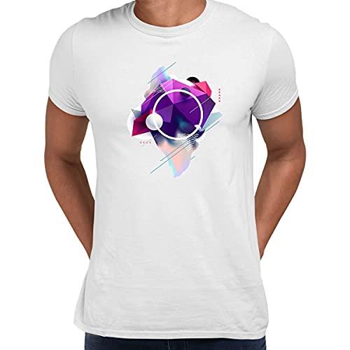 KuziTees Camiseta 3D fluida de formas mixtas diseño abstracto regalo de cumpleaños divertido masculino niños unisex camiseta