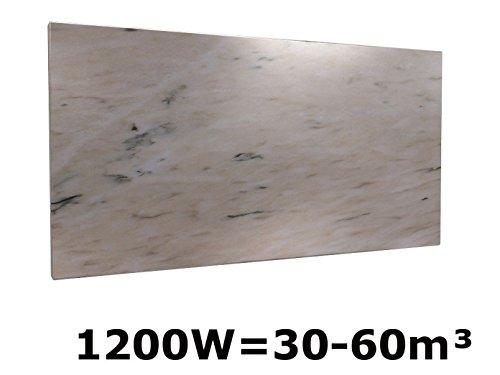 1200W Infrarotheizung Marmor rosa, 130x60 cm, für Räume 30-60m³, IP44, HVH1200MR