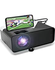Deal on GRC Mini Projector, Full HD 1080 Supported Native 720P Projector Movie Projector, with Built-in HiFi Sound Speaker, Compatible with TV Stick HDMI USB AV DVD for Multimedia Home Theater/ Outdoor Movie