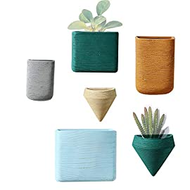 Purzest Ceramic Hanging Planters Geometric Wall Decor Container Flower Pot Holder Great for Succulent Plants, Air Plant… 4 🌿🌵🌸Premium Material: crafted with high quality ceramic, this sturdy plant pot with matte finish is built to last long time using. 🌿🌵🌸Wall Decoration: small and lightweight, not only great for bathrooms, small accent walls and even narrow walls, but also suitable for larger wall spaces, picture frames and other wall decor. 🌿🌵🌸Easy to Operation: a hole on the back for simple installation, it can be easily mounted on any wall with proper mounting hardware, that ensures time-saving and effortless.