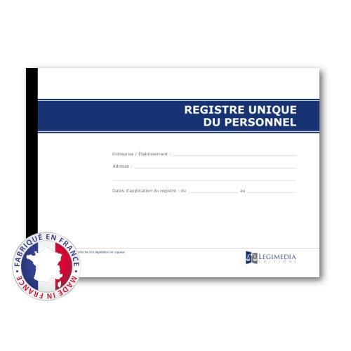 Registre unique du personnel - Format A4-64 pages - à jour de 2021