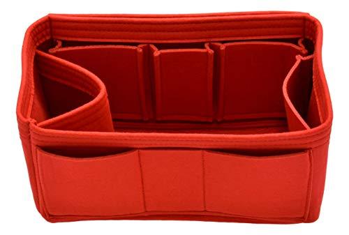 Handtaschen-Organizer-Einsatz – Filz-Aufbewahrung, formende Tasche für Handtaschen-Handtasche, Rot (rot), Large