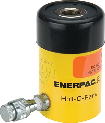 Enerpac RCH-121 Single-Acting Hollow-Plunger Hydraulic Cylinder with 12 Ton Capacity, Single Port, 1.63