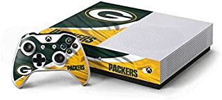 Skinit Decal Gaming Skin for Xbox One S Console and Controller Bundle - Officially Licensed NFL Green Bay Packers Design