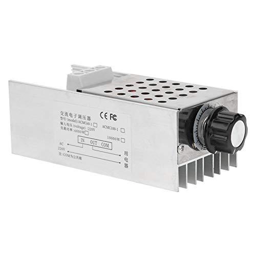 Termostato SCR, 10000 W, potencia ultra alta, regulador de voltaje SCR, regulador de velocidad, termostato AC 110 V 220 V para horno eléctrico, calentador de agua, lámpara, motor pequeño