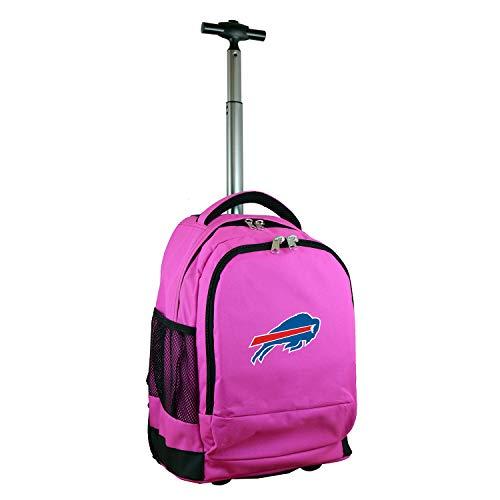 Denco NFL Buffalo Bills Wheeled Backpack, 19-inches, Pink
