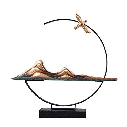 Statue Tierwandskulptur, Kolonnade Reine Erde Sekte neue chinesische Verzierungen aus Schmiedeeisen Handwerk IKEA Schlafzimmer Schmuck Ornamente innovative Statue Statue B Tierwandskulptur Skulpturen