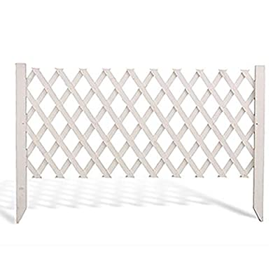 Wooden Garden Decor Picket Fence, Expanding White Border Fence Edging Animal Barrier, for Outdoor Patio Flower Bed Vegetable, Size Optional (Size : 170×70cm (66.9×27.6in))