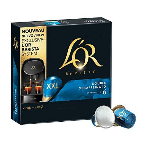 L'OR BARISTA, Cápsulas Doble Espresso Decaffeinato Intensidad 06 - Exclusivas para Cafeteras L'OR BARISTA, Pack de 5 x 10 [Total 50 cápsulas]
