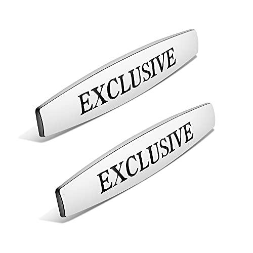 BYTT 2 pegatinas para placa de identificación con el logotipo del coche, para AMG GLA GLB GLE B C A V, clase W203 W204 W205 W207 W209 W210 W211 W212 (nombre del color: plata)