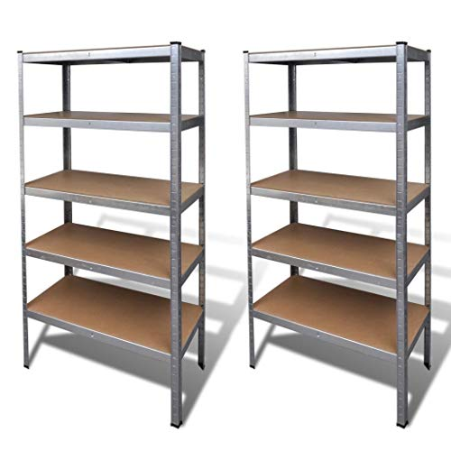 Tidyard Schwerlastregal 2 Stück Heavy-Duty Shelving Unit for Economy and Industrial Industrial Storage Industrial Shelves