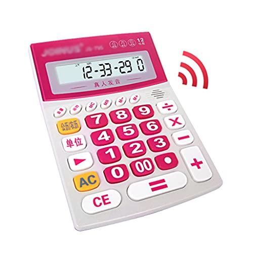 LEGU calculadoras Calculadora De 12 Dígitos Pantalla LCD Grande Financiero Calculadora Dedicada Calculadora De Función Estándar Grande Calculadoras Básicas