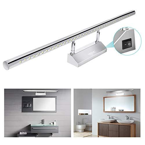 YISSVIC Lámpara de Pared Baño Aplique Espejo de Acero Inoxidable LED para...