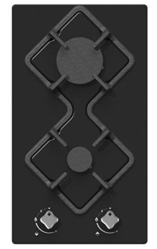 Plaque Gaz 2 feux-Hudson HDG2VN - Plaque de cuisson Gaz - Dimensions produit (LxP en cm) : 29 / 51