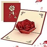 Biglietto di auguri 3D pop-up per lei lui, romantico biglietto di San Valentino per moglie, marito, fidanzato, mamma, papà, biglietto di auguri pieghevole con busta per compleanno, San Valentino