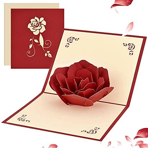 Tarjeta de felicitación 3D Pop Up para ella él, tarjeta romántica de...