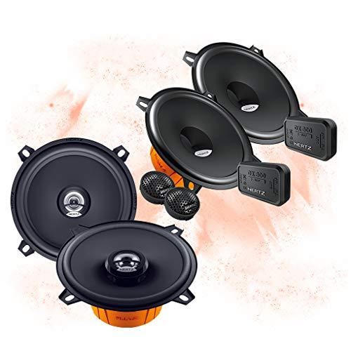 Hertz Front/Heck 13cm/130mm Auto Lautsprecher/Boxen/Speaker Komplett-Set kompatibel für BMW