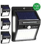homeasy Solarlampen für Außen mit Bewegungsmelder 100LED Solarleuchten Garten 270