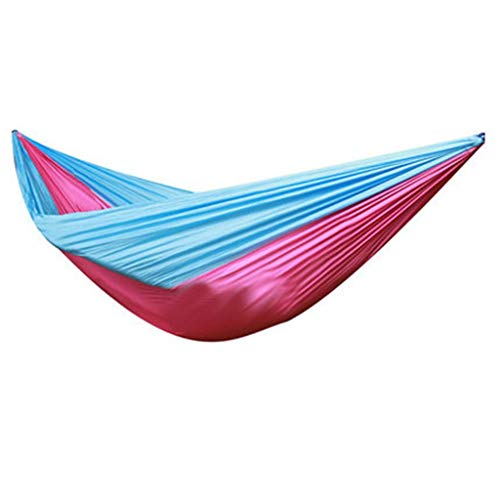 Gwgbxx Columpio de ensanchamiento extendido al Aire Libre Paño del paracaídas Hamaca de Ocio Doble Columpio de Dormitorio de Almacenamiento de luz portátil, Multicolor Opcional (Color : B)