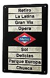 LEotiE SINCE 2004 Cartel Letrero de Chapa Diversíon Regístrate Metro