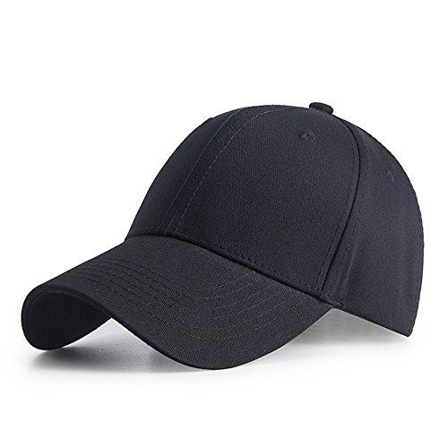 HGDGears Gorra de Beisbol,algodón Snapback Ajustable Gorra Trucker Hombre Mujer Verano Sombrero de Sol (Negro)