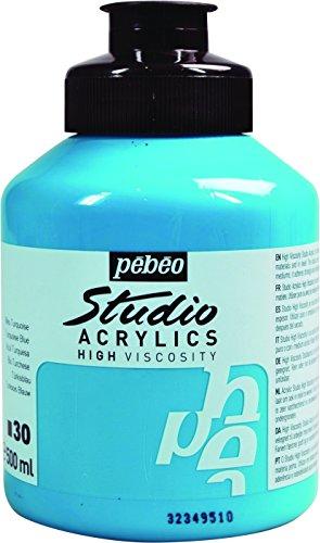 Pébéo Studio Acrylics 171030 - Pintura Acrílica, 500 ml, Azul turquesa