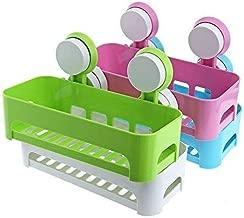 FASTUNBOX (LABEL) Bathroom & Kitchen Storage Wall Mounted Suction Cup Storage Holder Stand Organizer Shelf for Bathroom Kitchen Accessories