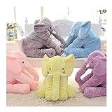Soft Toys YSJ LTD Plüsch-Elefant, 40 cm / 60 cm Höhe, für Kinder, Schlafkissen, niedlich,...