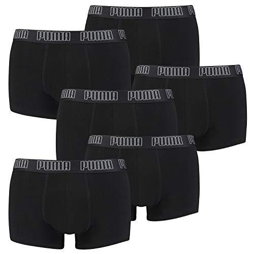 PUMA 6 er Pack Short Boxer Boxershorts Men Pant Unterwäsche kurz 100000884, Farbe:001 - Black, Bekleidungsgröße:XL