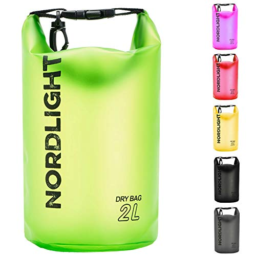 Nordlight Pack Saco Impermeable Dry Bag para Kayak, Canoa, Vela, Pesca, Playa y Trekking,–Petate Impermeable pequeño, Color Verde, tamaño Small