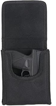 Bulldog Cases  Vertical  Cell Phone Holster with Belt Loop and Clip fits sub-compact  vertical  .380 auto s  Sig P238  in Black Nylon