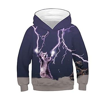 NEWCOSPLAY Unisex Kids Hooded Realistic 3D Galaxy Digital Print Sweatshirt Baseball Jersey for Boys Girls  063 m