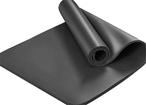 PPOSH Estera de Yoga, 5 mm Grosero Antideslizante, Estera de Fitness NBR, Estera de Ejercicios para Hombres y Mujeres, Ejercicio para el hogar, Traje de Salto de la Cuerda Estera de Yoga