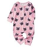 Eastery - Pijama de bebé recién nacido con estampado de gatos, ropa de estilo simple y cómodo para niños pequeños