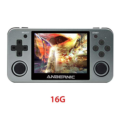 RG350m Handheld Game Console 16GB Retro Video Games Consoles with 3.5 Inch IPS Screen Preload 10000 Games Opendingux System Gifts for Children