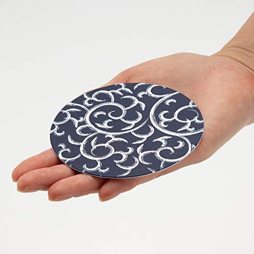 遠藤商事業務用紙コースター唐草(100枚入)紺紙日本製PKCR701