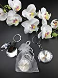 12 New Quinceañera Recuerdos. My Sweet 15 Shoe Design Celebration Gifts Gold/Silver Plate Mirror Keychain Party Favor Set With Organza Bags