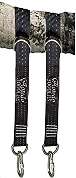 aotedo Tree Swing Hanging Straps Kit 2pcs 6.5Ft Long,Holds 3000+ lbs,with Safer Lock Snap Steel carabiners,for Tree Swings and Hammocks