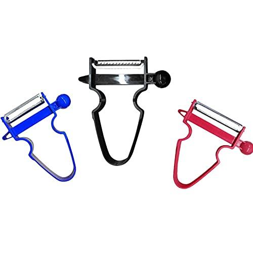 3pcs/Set Slicer Shredder Julienne Cutter Suitable For Vegetable Multifunctional Creative Kitchenware - Blue+Black +Red