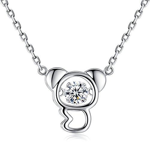 Koala collana 925sterling Silver Dancing Cubic zirconia gioielli Girls–Gemshadow