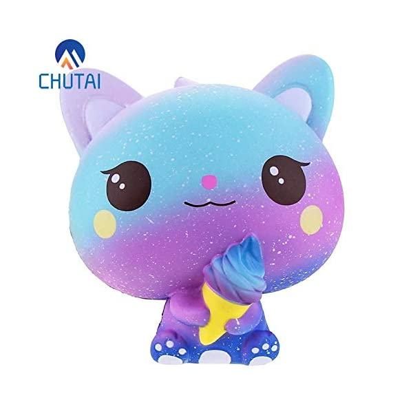 QAES Lovely Squishies, Kawaii Ice Cream Cat Penguin Unicorn Squishy, Creamy Aroma Slow Rising Squeeze Toys for Boys and Girls Gifts Soft Toy (Color : 10x10 cm) 4