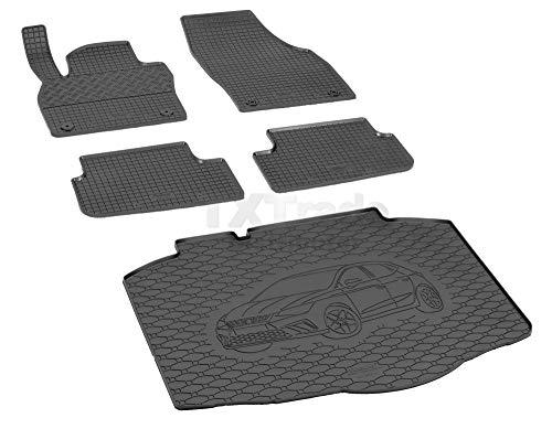 Passende Gummimatten und Kofferraumwanne Set geeignet für SEAT Ibiza ab 2017ein Satz + Gurtschoner